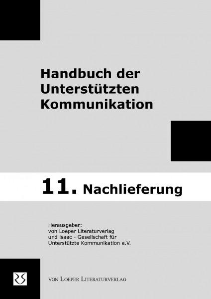 """11. Nachlieferung zum """"Handbuch der Unterstützten Kommunikation"""""""