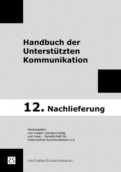 """12. Nachlieferung zum """"Handbuch der Unterstützten Kommunikation"""""""