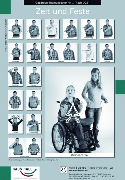 Gebärden-Themenplakate zzgl. Hülsenversand € 6,90 in DE